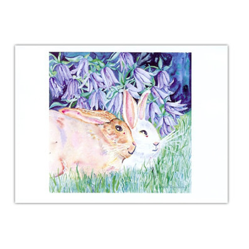 Blue Bunny Day Note Cards