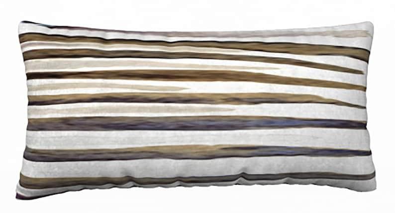 Zebra Blue Stripes Throw Pillow Cover
