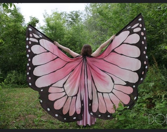 Hand painted 100% silk isis wings made to order.