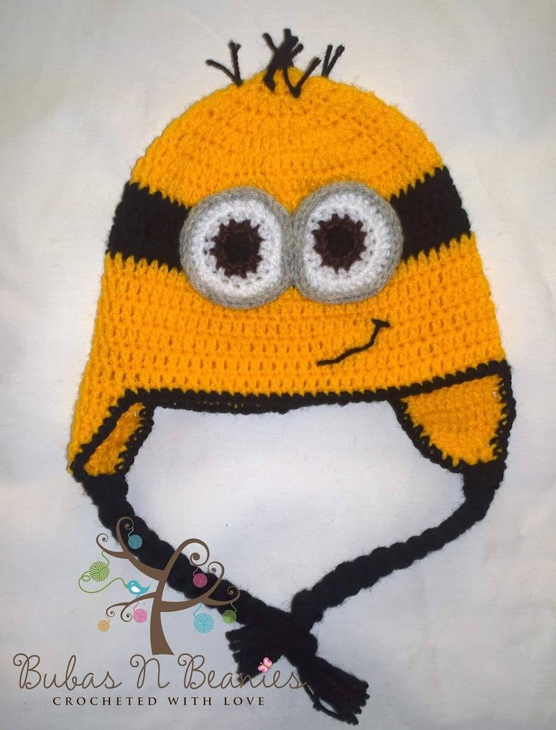 516e4f110c563 Minion beanie. Crochet minions beanie. Despicable Me inspired