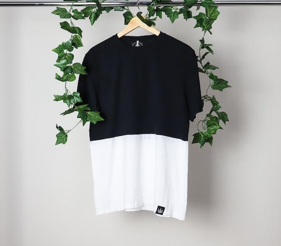 HEMP organic cotton tee, Two tone, t shirt, eco fa