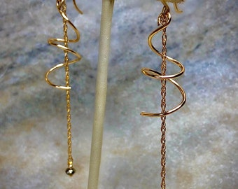 Dayna/'s Reunion 8 Sparkle Hoop Chain Earrings 14k gold fill or Sterling Silver