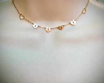 "Stassi's ""Hartford s birthdate"" heart 14k gold fill heart necklace"