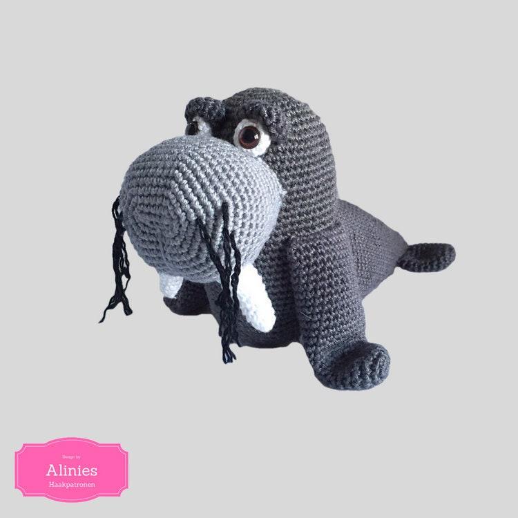 Walrus Crochet Pattern Tutorail Amigurumi Crocheted Pattern Pdf