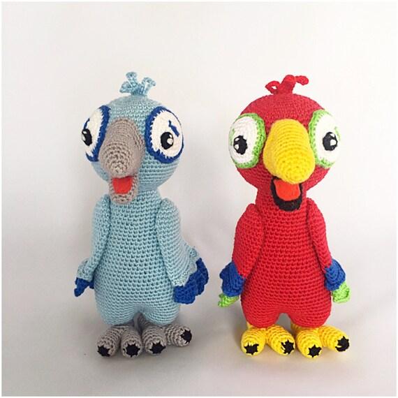 Bundle von 3 Vögel Amigurumi Muster häkeln Anleitungen Pdf | Etsy