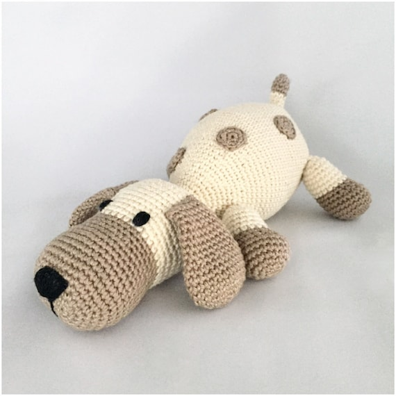 amigurumi pattern dog dots crochet pattern PDF tutorial in