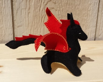 Felt Dragon, Dragon, ETSY Gift