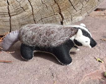 Badger, Felt Badger, Miniature Badger