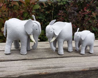 Elephant, Felt Elephant, Wool Elephant, ETSY gifts