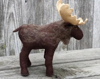 Felt Moose, Stuffed Moose, Moose