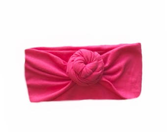Hot Pink top Knot FitchBand