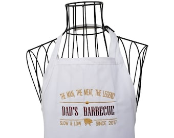 Funny Dad's BBQ Apron, Father's Day, BBQ Apron,  Christmas Gift