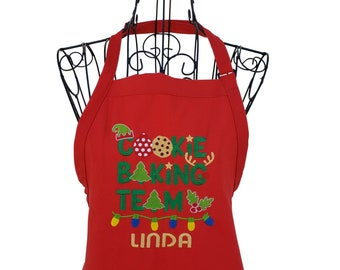 Personalized Cookie Baking Team Embroidered Apron for the Family
