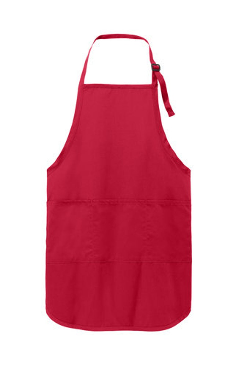 Christmas Apron Holiday Apron Twelve Personalized Merry and Bright Embroidered Full Length Apron Gift Apron