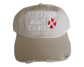 River Hair Don't Care Distressed Baseball Hat