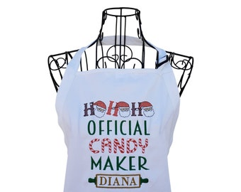 Personalized Official Candy Maker Embroidered Apron for the Family