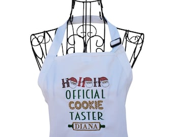 Personalized Official Cookie Taster Embroidered Apron for the Family
