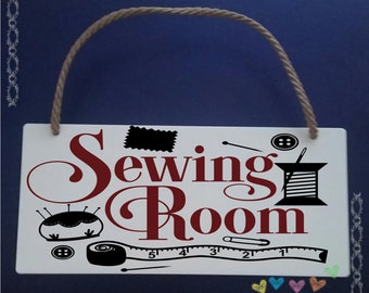 Sewing Room Plaque/Craft Room Plaque/Mother's Day Gift/Gift for Mum/Sewing Gift/Gift for Sewing/Sewing Plaque