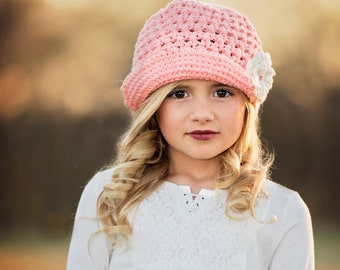 Newsgirl Hat, Crochet Hat | CALLIE Hat | in two color combinations