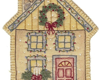 Vintage Christmas House Ornament