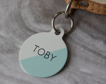 94ee3e8621c6 Personalised Two Toned Pet ID Tag - Dog Name Identification