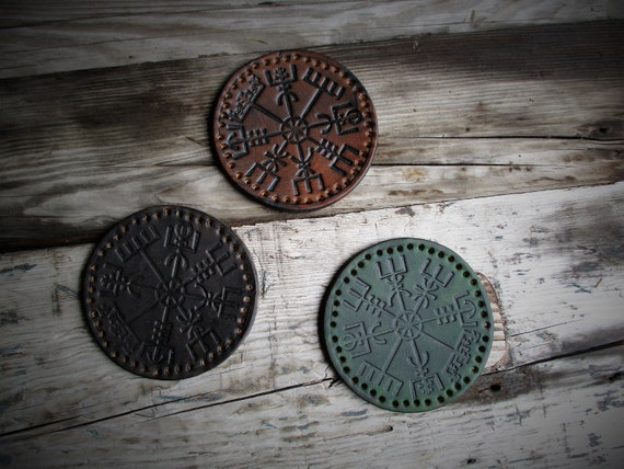 Norse Compass / Vegvisir Patch for backpacks, bushcraft bags, schoolbags, battle jackets, vests, etc. Icelandic magickal stave