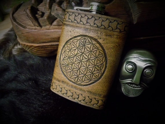 Flower of Life - 8oz Flask - Sacred Geometry