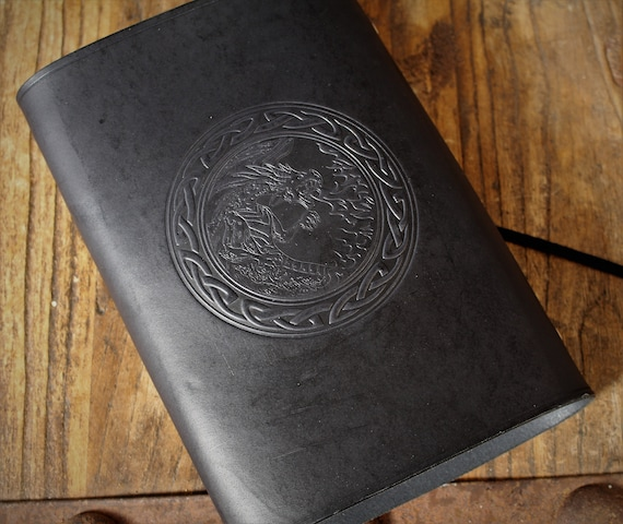 Leather Spellbook / Journal / Book of Shadows / Diary / Organizer / Planner - A5 Refillable Binder with knotwork and fantasy design
