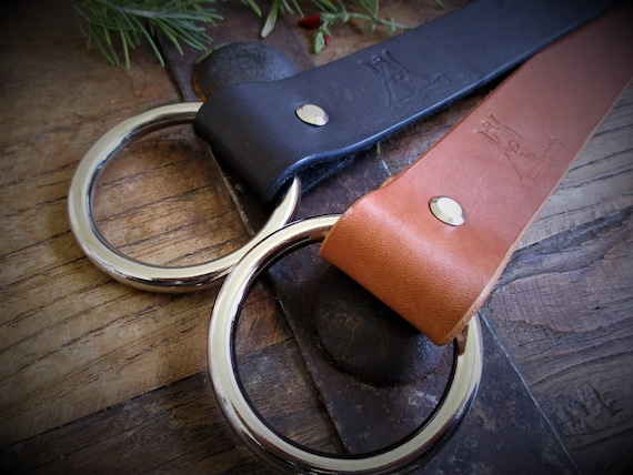 Beastman's Ring Belt - Full Grain Leather Belt with Solid Ring - Made to Order