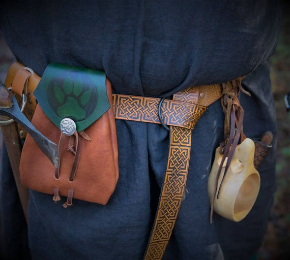 Norse Knotwork Viking Ring Belt with HandForged Buckle by Josh Weston - Asatru Heathen Pagan Magickal Medieval Larp Cosplay