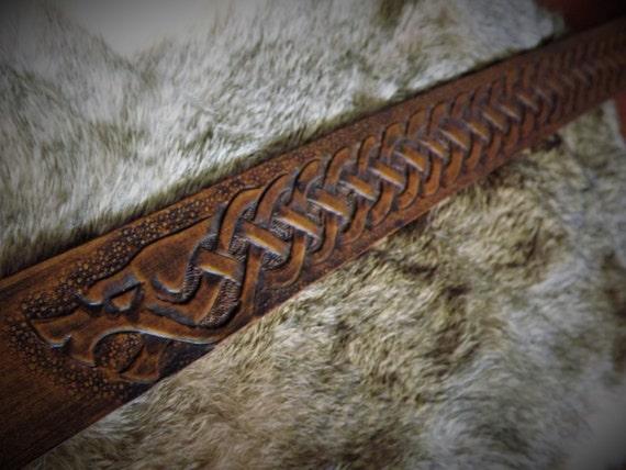 Norse Knotwork Wolf Viking Belt