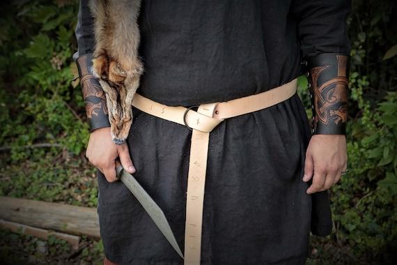 Norse Runic Viking Ring Belt with HandForged Buckle by Josh Weston - Elder Futhark - Asatru Heathen Pagan Magickal