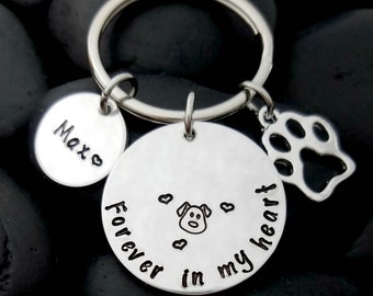 Dog Memorial Keychain - Dog Loss Keychain - Pet Memorial Keychain - Pet Loss Gift - Pet Remembrance Jewelry - In Memory Keychain