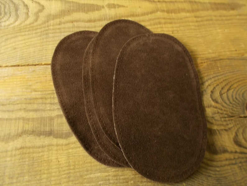 Vegan leather Patch Jacket Faux leather patch Dark brown Cardigan patch Sweater patch Geek Oval patch DIY Elbow patch