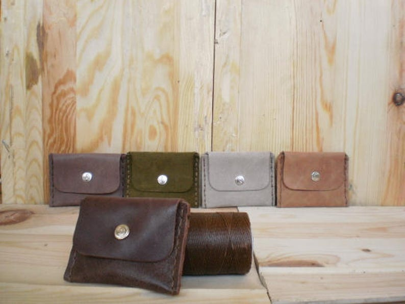 Coin purse Men/'s leather wallet Leather  card wallet Slim leather  wallet Coin pouch Business card case Card holder Leather wallet