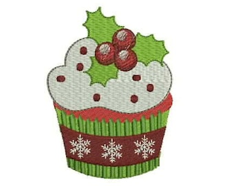 c72cb1690 Christmas Cupcake digitized design for embroidery machine-Download- design  pattern