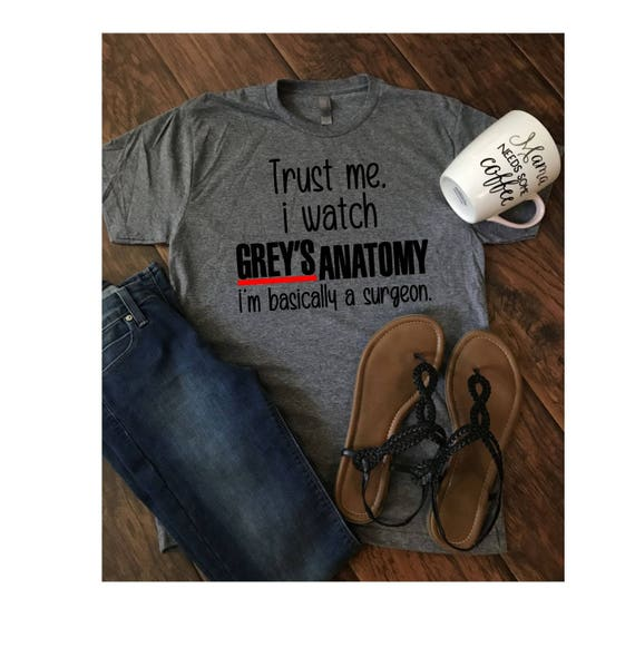 I Watch Greys Anatomy Tee Etsy