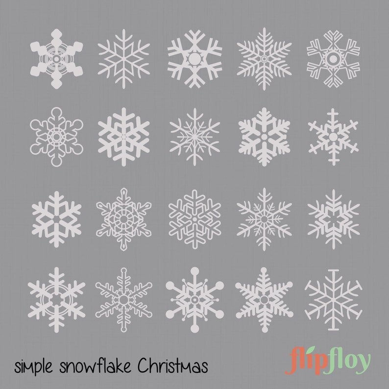 Decorative Snowflake Instant Download - 20 Decoration Christmas, Vector  Snowflake, Snow Crystal Clipart, Digital Snowflake, Xmas Celebration