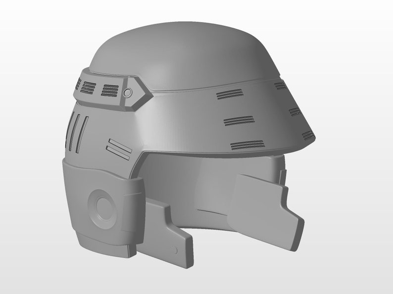 Starship Troopers Mobile Infrantry MI Helmet 3D Printable image 0