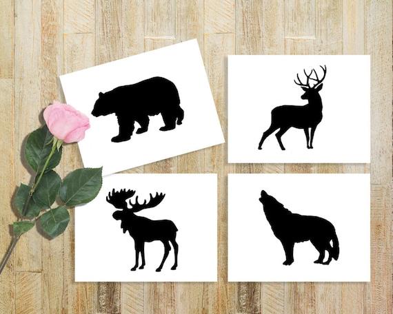 Wildlife Stencils For Wood Signs Bear Deer Coyote Amp Moose