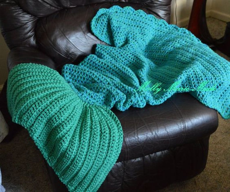 On Sale Crochet Mermaid Tail Afghanblanket Mermaid Etsy