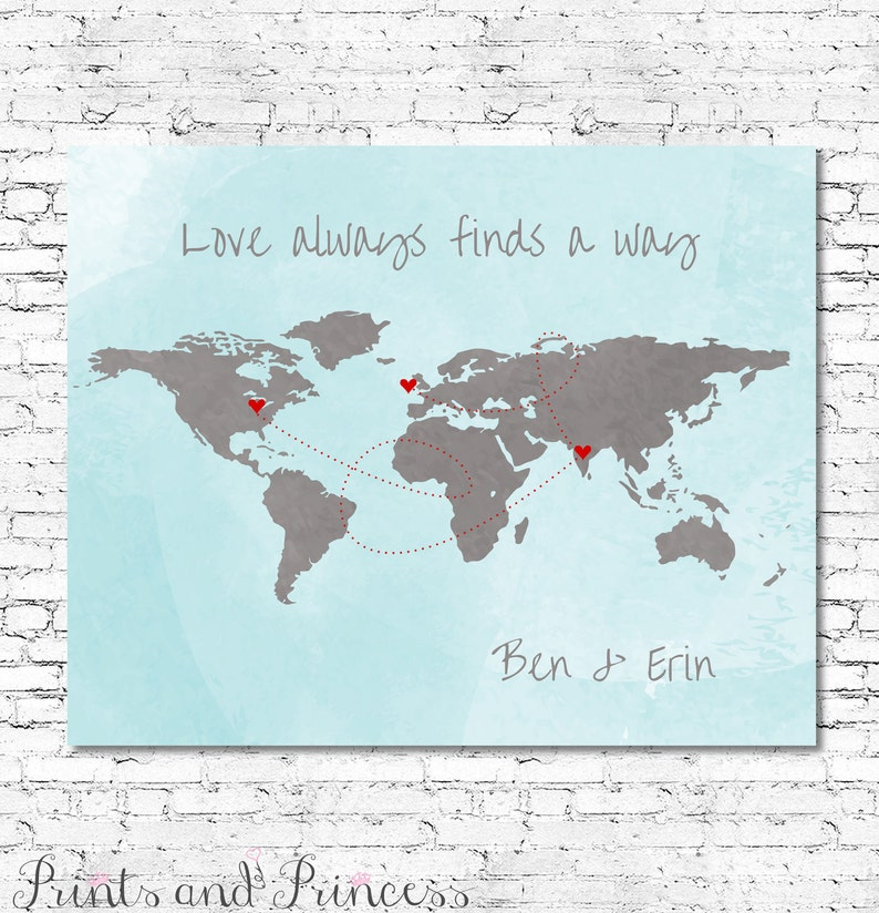 3f6408752ccae CUSTOMISED WORLD MAP Love Always Finds A Way Printable