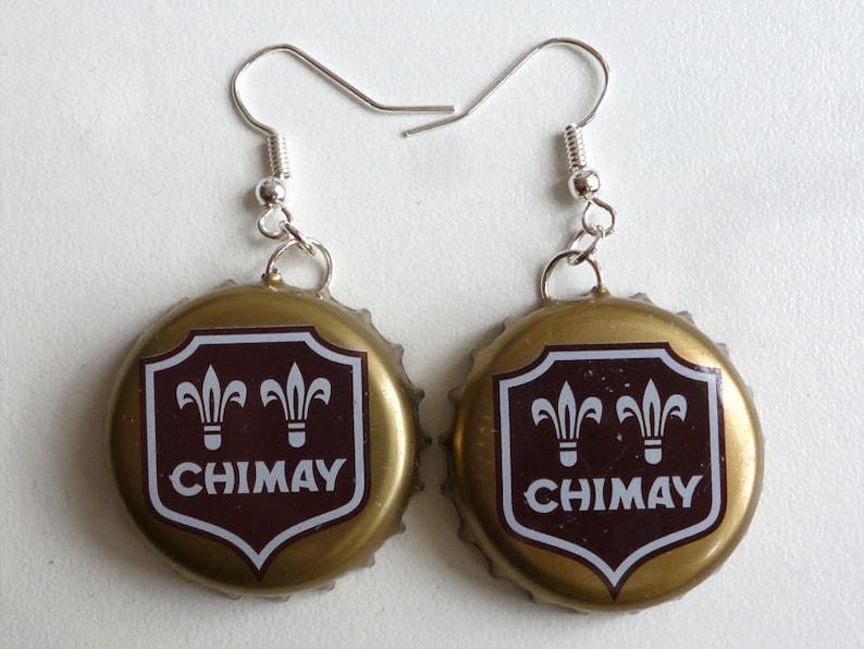 Earrings capsules Chimay dorée 2 image 0