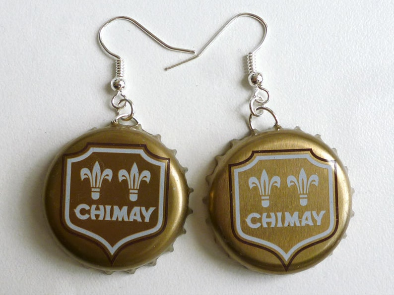 Earrings capsules Chimay dorée 1 image 0