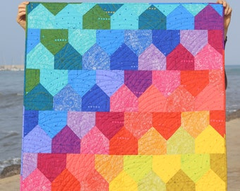 Rainbow baby quilt. Patchwork House Quilt. Handmade Patchwork. Gender neutral, boys, girls, kids, crib quilt.