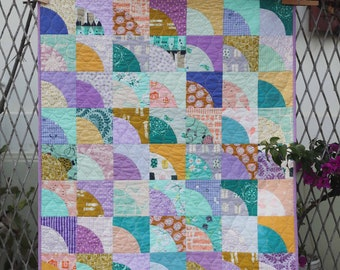 Patchwork Baby Quilt, Handmade Quilt, Modern Baby Quilt. Christmas fabrics. Gender neutral, boys, girls, kids, crib quilt