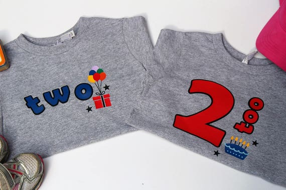 Two And 2 Too Birthday Twin Shirts 2nd