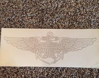 Vinyl Navy/Marine/Coast Guard Aviators Wings
