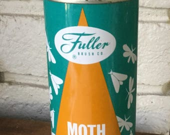 Vintage Fuller brush moth proofer can full