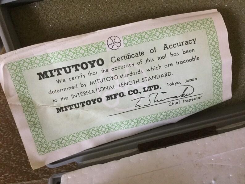 Mitutoyo Gauge